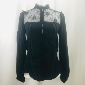 Urban Outfitters Kimchi Blue SeeThrough Blouse TOP
